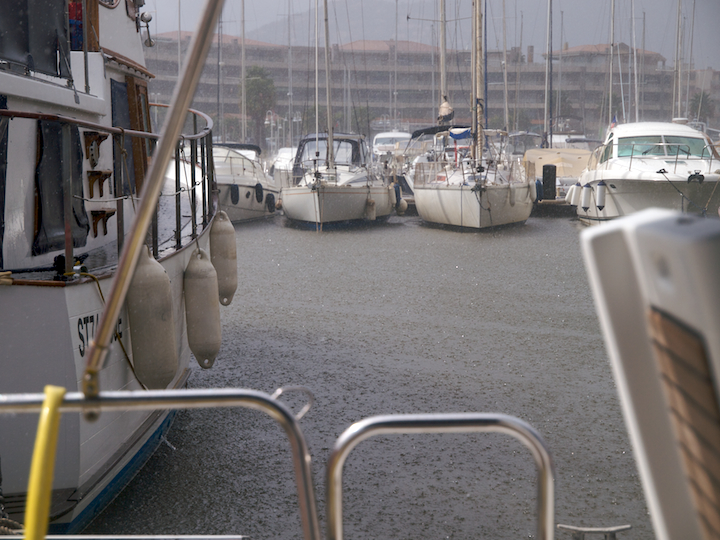 Raining in Cavalaire-sur-Mer