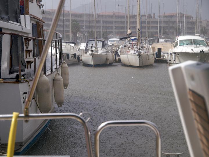 Raining in Cavalaire-sur-Mer
